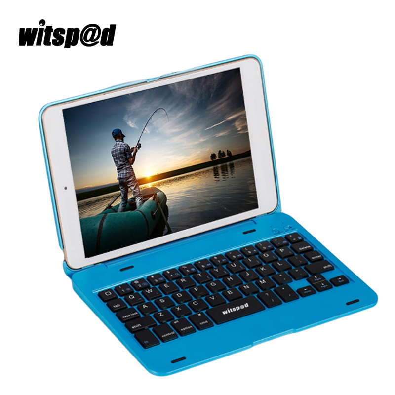 Witsp@d Anti-dust USB Keyboard For iPad Mini 2 Tablets Protective Case With Stand for iPad 7.9 Inch For Mini 3 2 1 Smart Cover metal keyboard ylgf ps 2 super mini embedded industrial key waterproof ip65 dust anti violence stainless steel ring