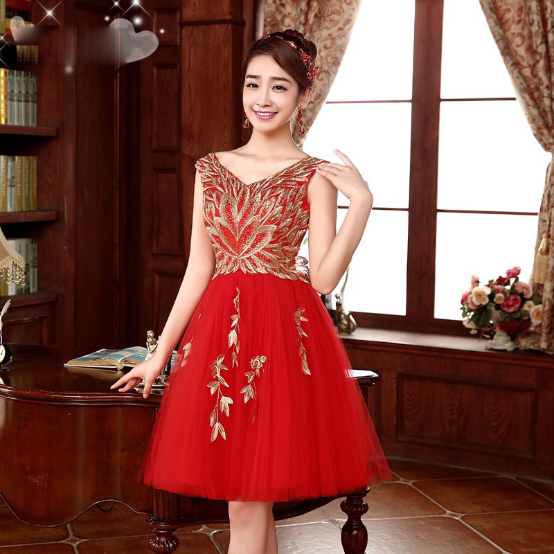 2d1da9b0fb iLoveWedding Short Homecoming Dresses Sleeveless V Neck A line Tulle  Embroidery Beautiful Prom Graduation Gown Fast Shipping-in Homecoming  Dresses from ...