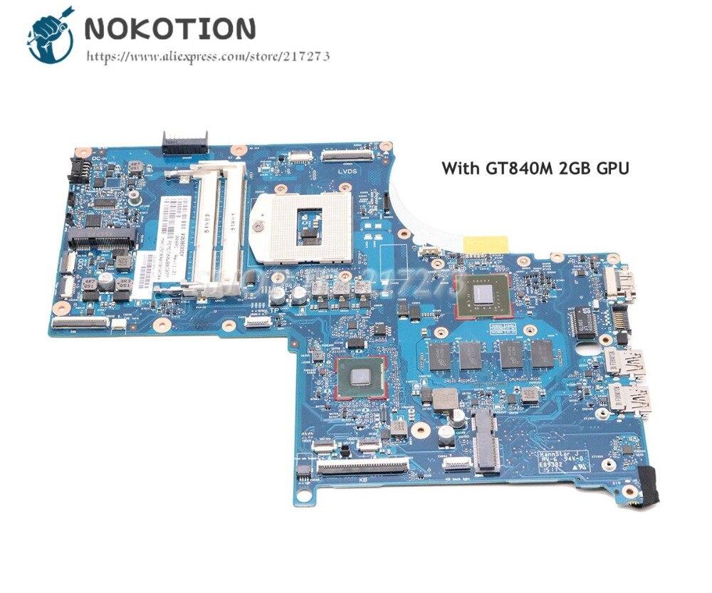 NOKOTION Laptop Motherboard Main-Board Envy 17-J DDR3L GT840M HM87 For HP 2GB GPU 773370-001