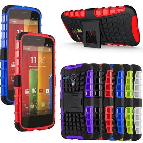 For Moto G 1st Gen Case stand Silicone hard case Defender Heavy Duty cover For Motorola Moto G XT1028 XT1031 XT1032 XT1033