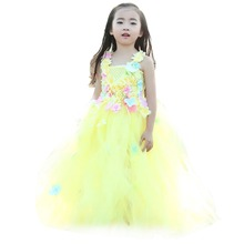 Flower Fairy Girl Beauty and the Beast Dress for Kids Hydrangea Ankle Length Wedding Girls 12 Age Ball Gown Clothing