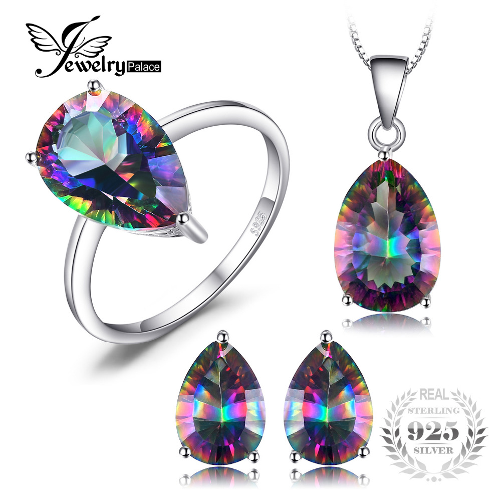 accessories round genuine rainbow from best in jewelrypalace gift for rings item women jewelry silver sterling ring solid mystic fire topaz gemstone fine