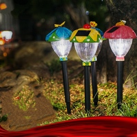 Creative LED Solar Panel Lawn Lights Garden Landscape Outdoor Lamp Animal Butterfly Dragonfly Ladybug Bee Holiday