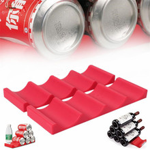 YI HONG Silicone Bottles and Cans Easy Stacker Holder Stacking Mat Organizer for Pantry Cabinet Refrigerator Fridge Storage 218c