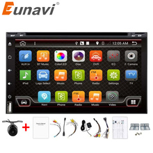 "Eunavi 6.95""Android 6.0 Core Car Audio GPS Navigation 2Din Car Stereo Radio Universal Car Video Player Support OBD DVR With DVD"