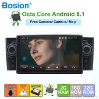 Android 8.1 Octa Core GPS Navigation 7 Car DVD Multimedia for Fiat Linea Grande Punto 2007 2012 with WIFI SWC