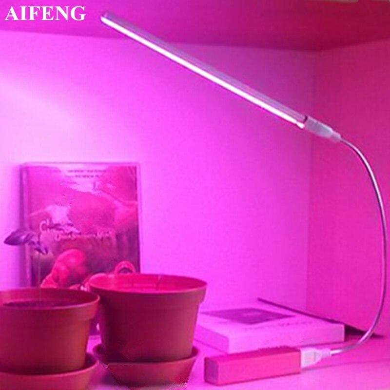 AIFENG Led Grow Light Full Spectrum Red Blue 5V USB Grow Lights Flexible Hose 3W 5W For Seedlings Flowering Plants Growing Light