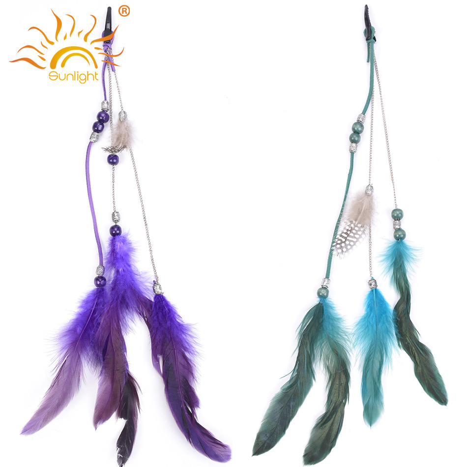 Buy Two Get One Free Beauty Women Feather Clip In Hair Extensions Fashion 2 Color Easy Clip In Feather Hair Extension Cosplay On Aliexpress