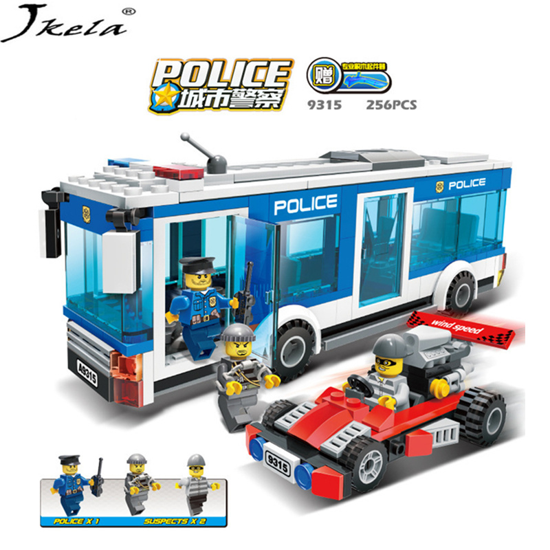 [Jkela] Police Station Model Building Blocks City series DIY Block Bricks Educational Toys Compatibility With Legoingly police sermoido building block city police 2 in 1 mobile police station 7 figures 951pcs educational bricks toy compatible with lego