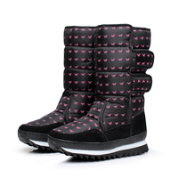 [Dai Yun] 2017 moda Zima nowy wzór okrągły nosek zwierząt drukowania wodoodporna ciepłe snow boots kobiety V863