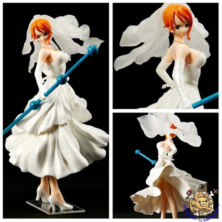 8 One Piece Anime SCultures Nami Wedding Dress Ver Boxed 20cm PVC font b Action b