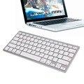 Comercio al por mayor ultra-delgado teclado inalámbrico bluetooth 3.0 teclado para apple para el ipad serie sistema operativo