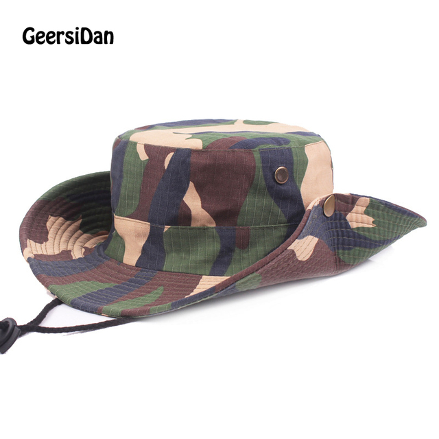 7c9172d383666 2017 Tactical Airsoft Sniper Camouflage Boonie Hats Nepalese Cap Militares  Army Mens Bucket Hat Military Accessories Hiking Hats
