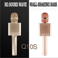 MicGeek Q10S Wireless Karaoke Microhone 2 1 Sound Track Dimensional Sound Voice Change 4 Speakers Smartphone