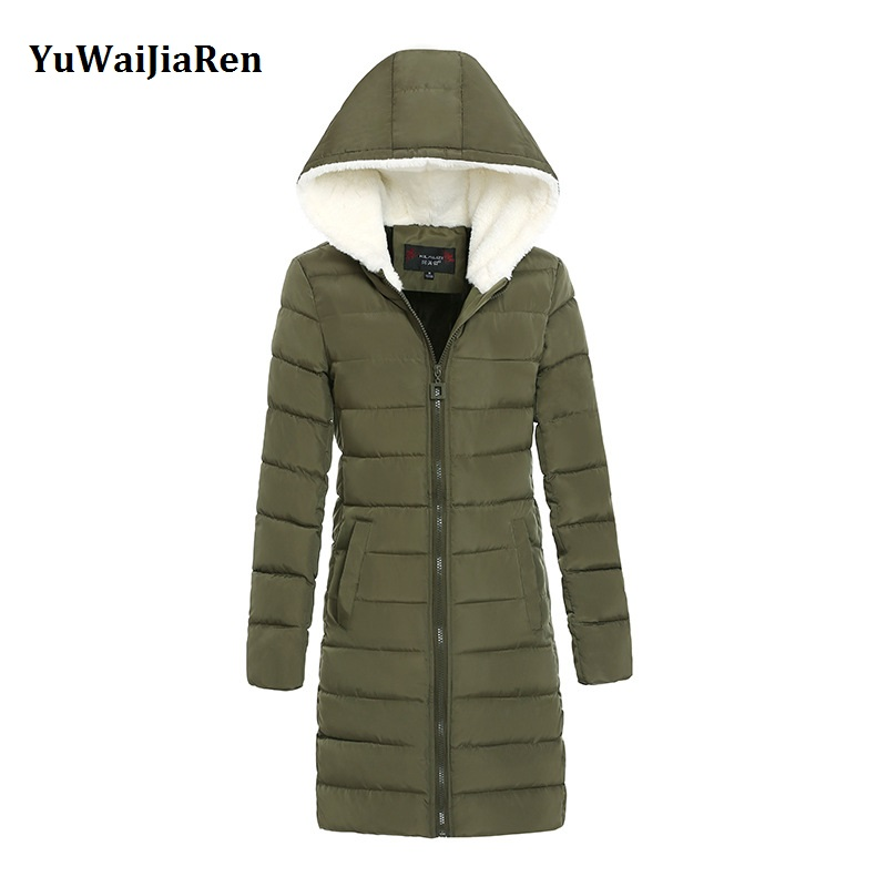Women Winter Coats & Jackets 2017 Fashion Down Cotton Padded Coat Long Slim Women Parkas Plus Size Thicken Female Outerwear winter women parkas solid color mid long section large size thicken down cotton jackets fashion hooded slim cotton coats ly0254