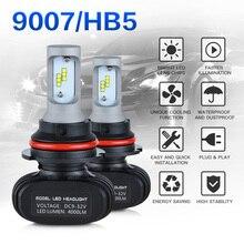 NICECNC 9007 HB5 Hi Lo Beam Car Headlight Bulb 12V 8000LM LED Fog Light For Nissan Juke Ford Dodge Caravan Chevrolet Cavalier