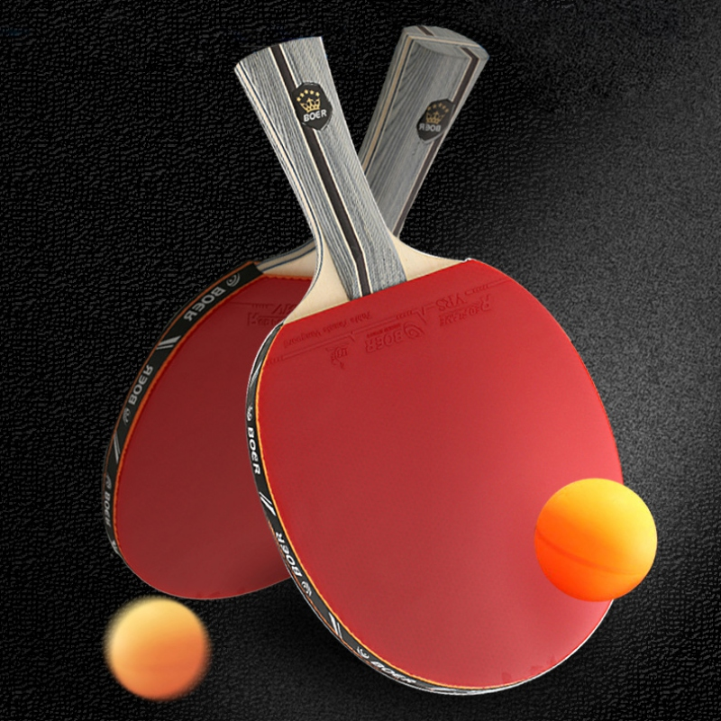 BOER 1STAR Poplar Table Tennis Racket Lightweight Powerful Ping Pong Paddle Bat Grip Table Tennis Training With Bag