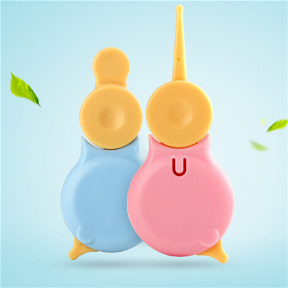 1pcs Newborn Ear Nose Clean  Plastic Tweezer Baby Ear Clean Forceps Mamadeira Clips Safety Forceps Baby Care