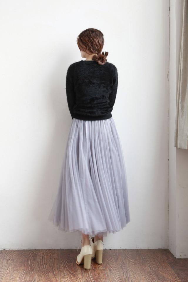 UWBACK Naisten hame 2018 Kesä pitkä Maxi Mesh hame Tyllihame - Naisten vaatteet - Valokuva 4