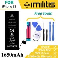 Оригинальный imilitis Батарея для Apple iPhone SE Замена Фирменная Новинка реальные Ёмкость 1650 мАч батареи для iPhone SE Батарея