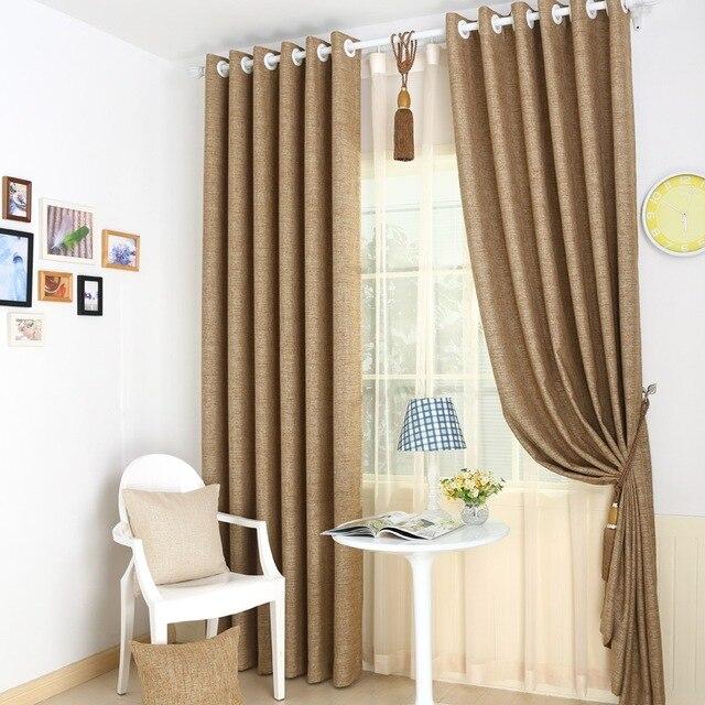 € 41.12 |Blackout Chambre Maison Rideaux Beige Lin Uni Rideaux Pour Salon  Vert Ready Made Fenêtre Panneaux Vert Personnalisé Aveugle Tissu dans ...
