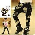 SK077 горячие продажа Осень/весна мальчики свободно облегающие длинные брюки дети череп печати шаровары брюки детские свободные-облегающие брюки