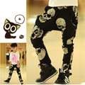 SK077 hot sale Autumn / spring boys loose-fitting long pants children skull print harem trousers children loose-fitting pants