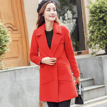 Coats Time-limited Full Solid Butterfly Sleeve Bamboo Fiber 2017 New Large Size Long Sleeved Korean Women's Casual Wool Coat