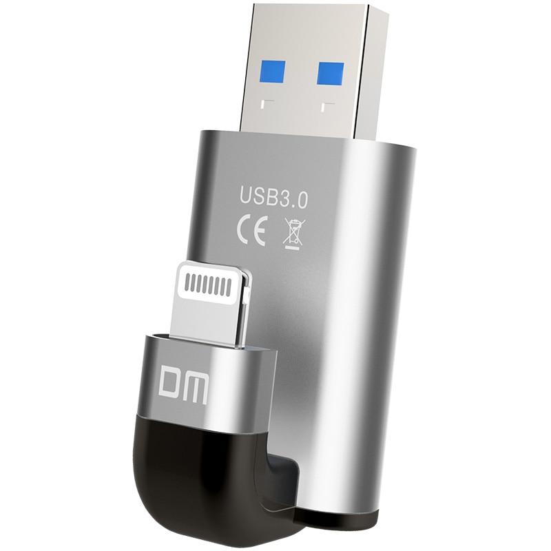 Prix pour Livraison gratuite DM APD003 USB3.0 32 GB 64 GB 128 GB usb IMF lecteurs flash pour iphone pour ipad stockage externe usb flash disque