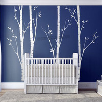 Huge Birch Tree Wall Sticker Vinyl Nursery Decor Wall Art DIY Stickers For Kids Baby Rooms Wall Decals Tree Branches Decor L918