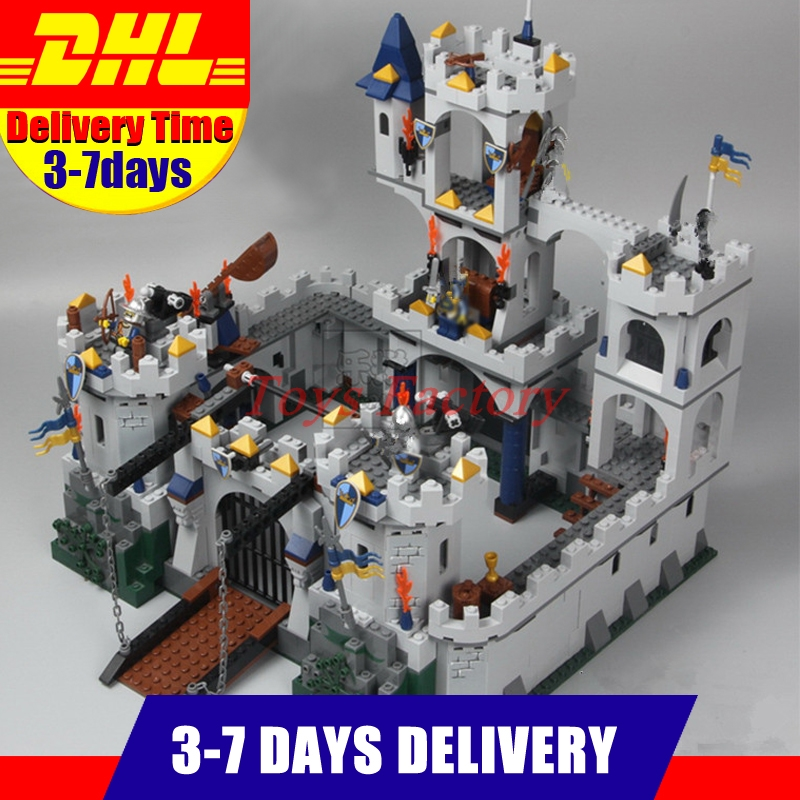 IN Stock 2018 DHL LEPIN 16017 1023Pcs The King`s Castle Siege Set Children Educational Building Blocks Bricks Toys Model lepin 16017 fantasy era king s castle siege dungeon dragon knights skeletons building blocks bricks toy for kids compatible 7094