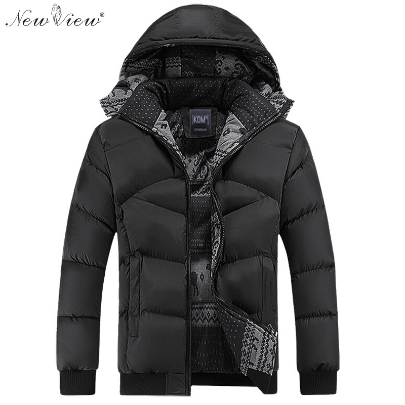 Fashion Winter Jacket Men Thicken Warm Cotton Padded Coats Hat Detachable Hooded Overcoat Casual Parka Mens Plus Size 4XL Coat