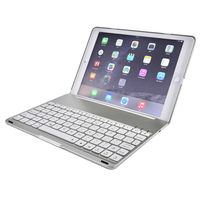 Wireless Bluetooth Keyboard Slim Aluminum Tablet Multifunctional Keyboard With LED For Apple IPad Air 2 Pro