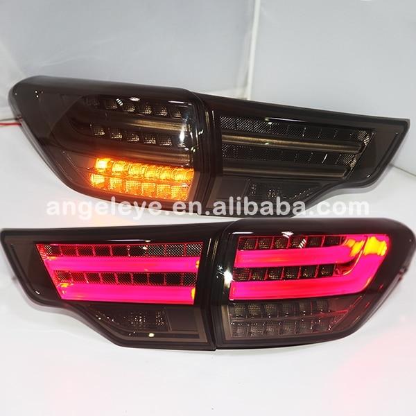 2014-2015 year For Toyota Highlander LED Rear Lights Taillamp Smoke Black Color BZW