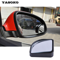 1 par, 360 grados de Ángulo ajustable Lateral blind spot Espejos Retrovisores Con Borde para aparcamiento de visión trasera espejo de alta calidad