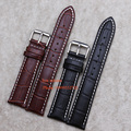 straps for wrist watches 14 16 18 19 20 21 22 - mm Watch Band Black Brown Leather Watchband Alligator Grain   watch  Belt