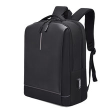 Business backpack 15.6-inch laptop case USB charging multi-function waterproof wear-resistant lightweight Mochila Male(China)