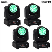 60w led 2in1 beam moving head light stage light with halo jeux de lumieres dj 4pcs/lot
