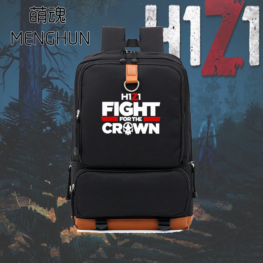 Cool H1Z1 new designed big nylon backpack gift for school boys student backpack game fans backpack H1Z1 backpack NB112 lucky john croco spoon big game mission 24гр 004