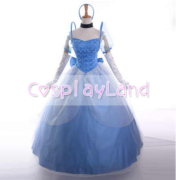 Cinderella Princess Dress Cosplay Costume Party Dress for Women Custom Made Halloween Costume