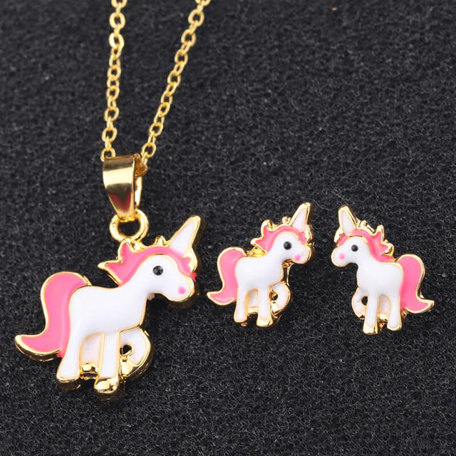 Pink Unicorn Necklace...