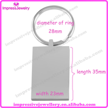 Custom Engrave!! Wholesale Stainless Steel Classic Blank Pendant Cremation Jewelry Key Chain for Women Men
