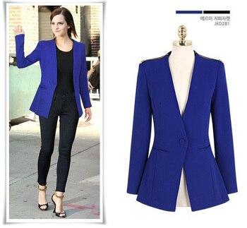 2014 nuevo marca diseñador Blazer azul americanas de moda