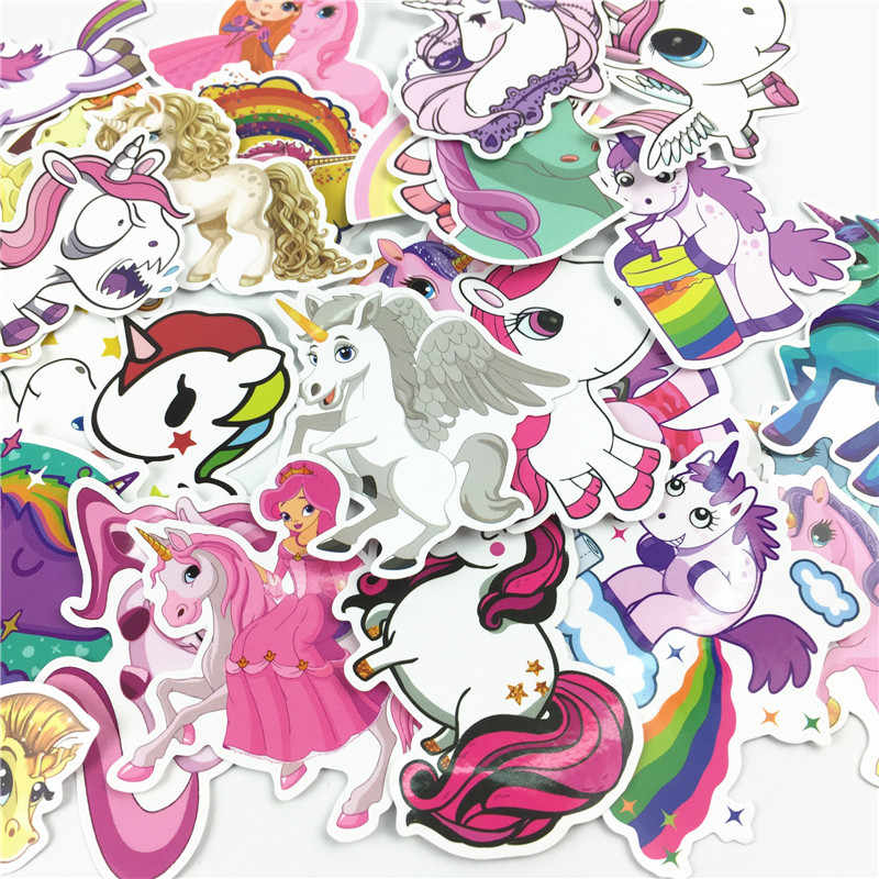 30 Pcs/set Lovely Unicorn Stiker untuk Mobil Bagasi Sepeda Motor Laptop Ponsel Campuran Kartun Pvc Tahan Air Stiker