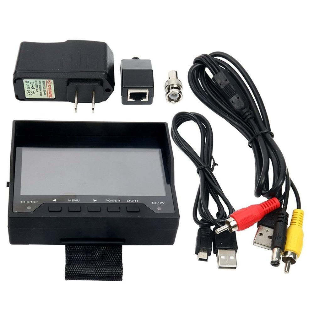 """הנדסת אוצר רשת בוחן יד סוג 4.3 inch TFT מעקב מצלמה אודיו וידאו אבטחת מצלמה מבחן צג ארה""""ב Plug"""