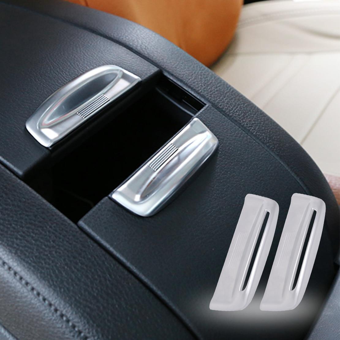 CITALL 2pcs Chrome Armrest Storage font b Box b font Cover Trim Fit for Toyota Highlander