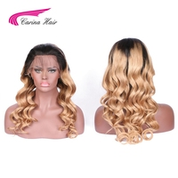 Carina Hair Lace Front Human Hair Wigs With Baby Hair Brazilian Remy Hair Pre Plucked Natural