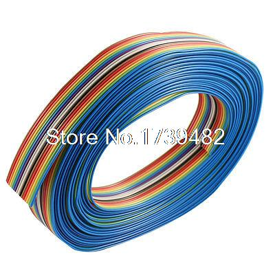 цена на 7M 16 Pin Rainbow Color Flat Ribbon Cable IDC Wire 1.27mm Pitch for Arduino DIY