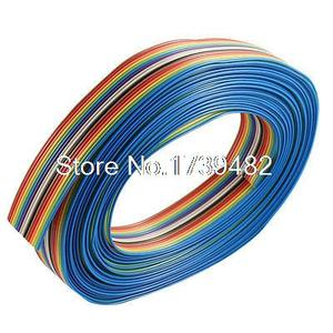 7M 16 Pin Rainbow Color Flat Ribbon Cable IDC Wire 1.27mm Pitch for Arduino DIY