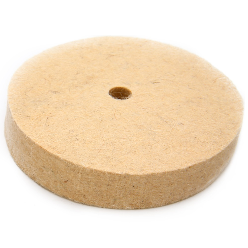4'' Wool Felt Polishing Buffing Wheel Polisher Disc Pad Rotary Tool 100 X 20mm For Fine Polishing Of Stainless Steel Copper